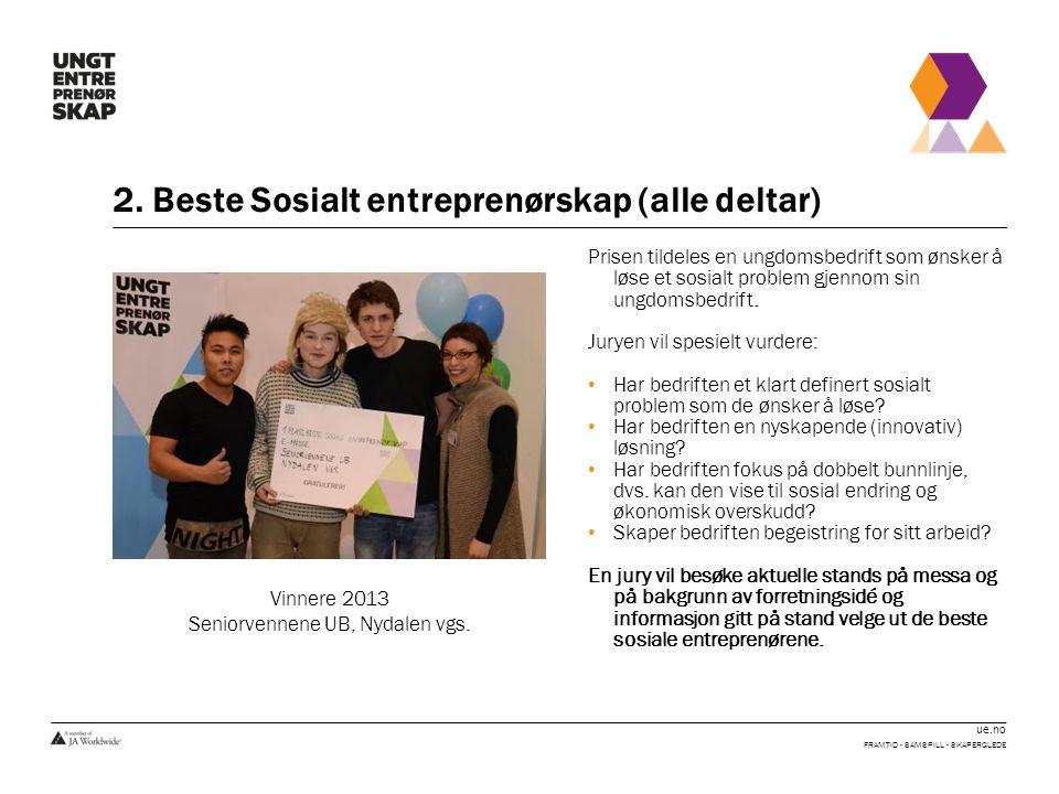 2. Beste Sosialt entreprenørskap (alle deltar)