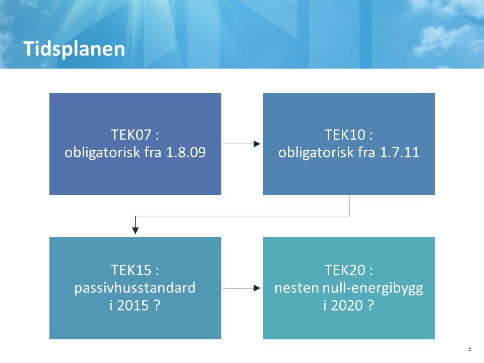 Tidsplanen TEK07 : obligatorisk fra 1.8.09