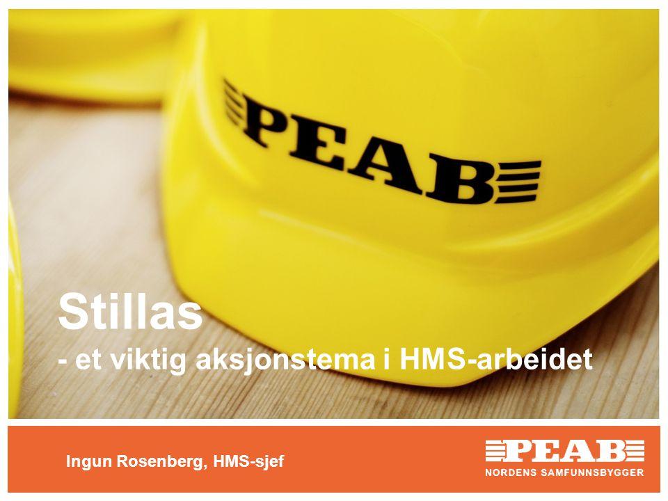 Stillas - et viktig aksjonstema i HMS-arbeidet