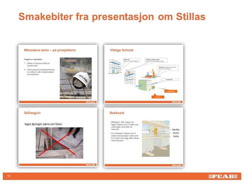 Smakebiter fra presentasjon om Stillas