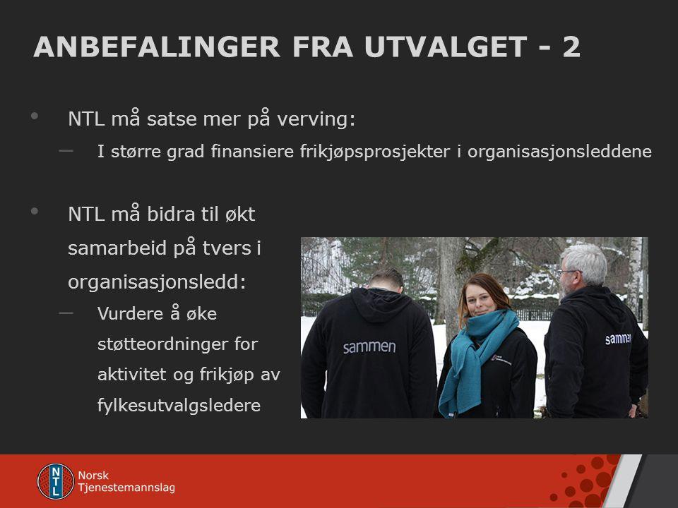 ANBEFALINGER FRA UTVALGET - 2