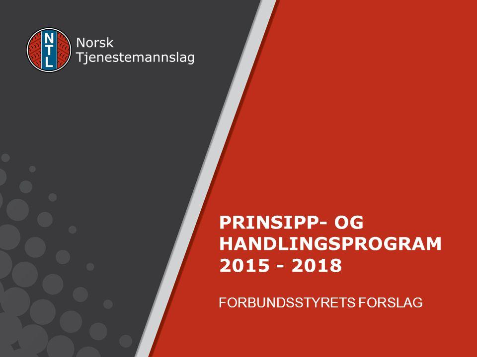 PRINSIPP- OG HANDLINGSPROGRAM 2015 - 2018