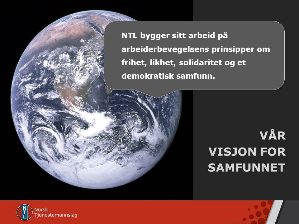 VÅR VISJON FOR SAMFUNNET