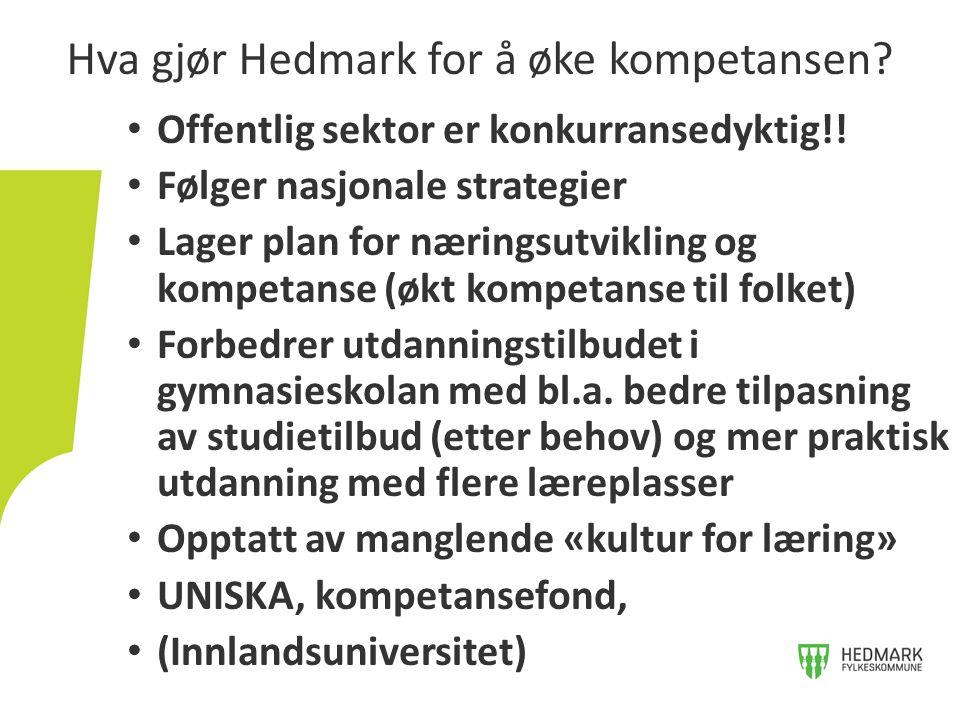 Hva gjør Hedmark for å øke kompetansen