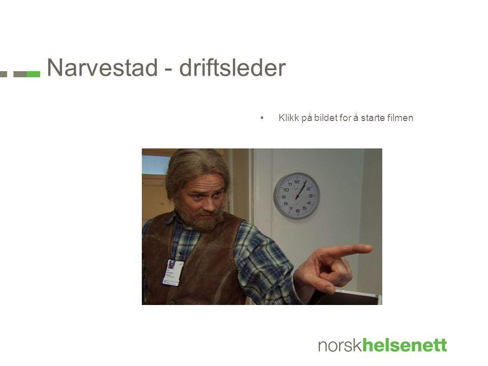 Narvestad - driftsleder