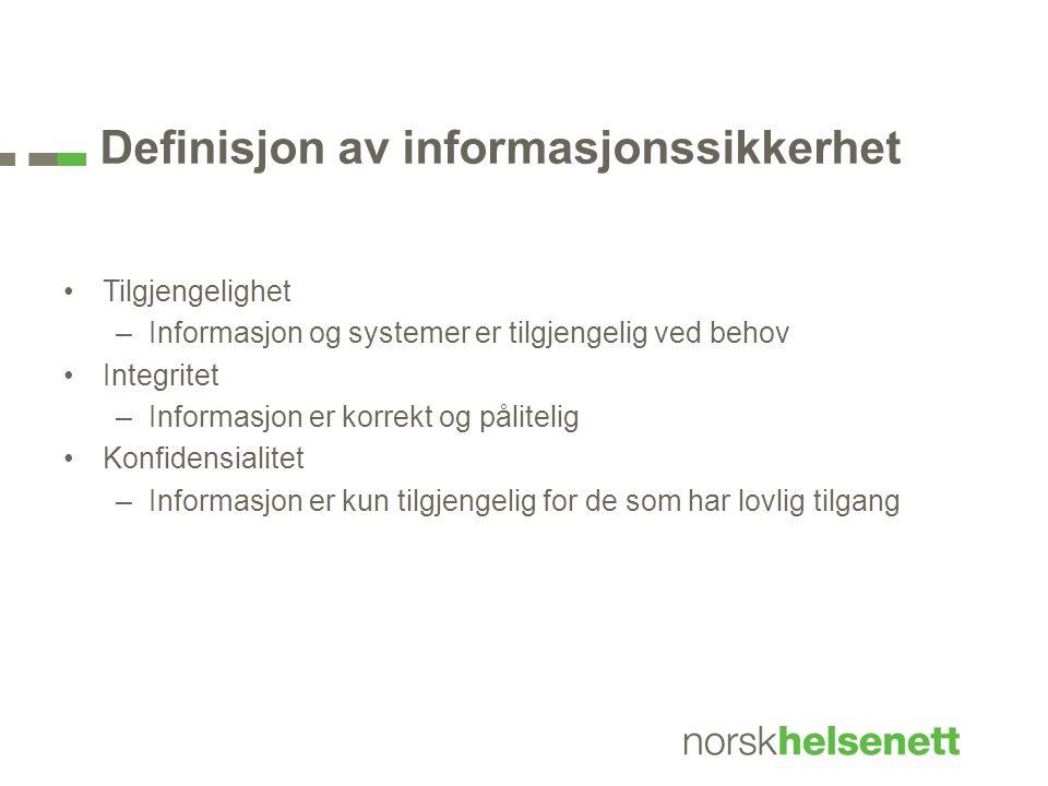 Definisjon av informasjonssikkerhet