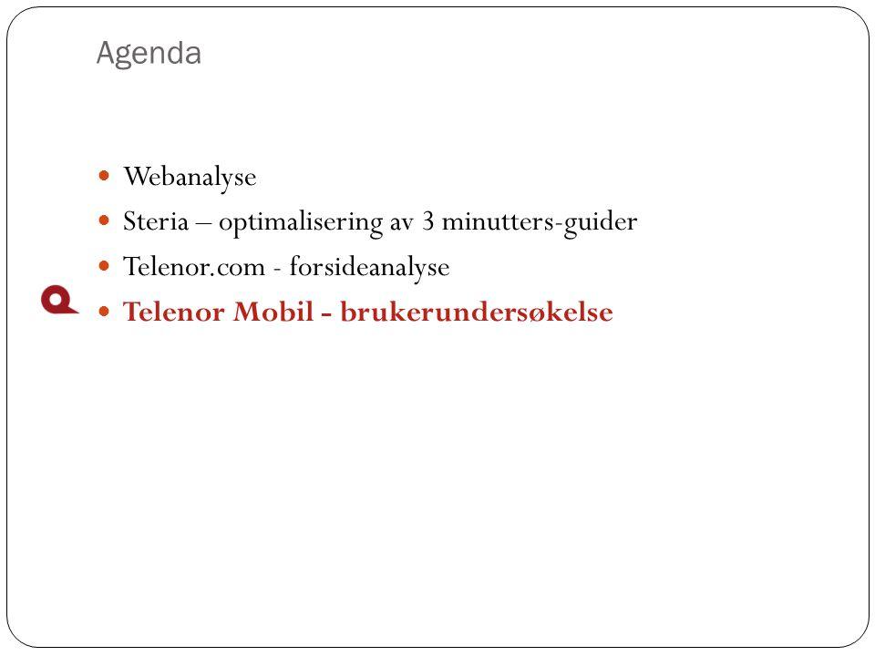 Agenda Webanalyse Steria – optimalisering av 3 minutters-guider