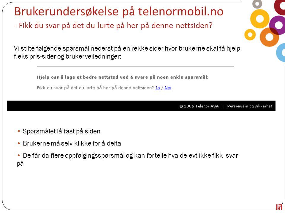 Brukerundersøkelse på telenormobil