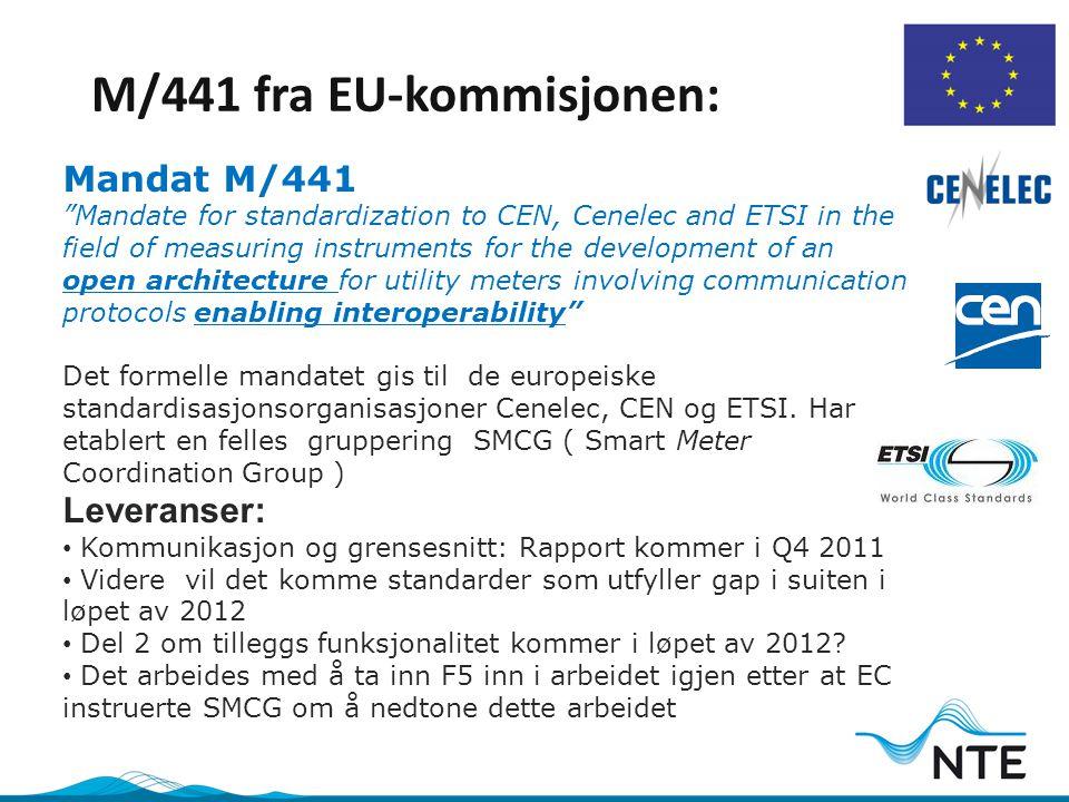 M/441 fra EU-kommisjonen: