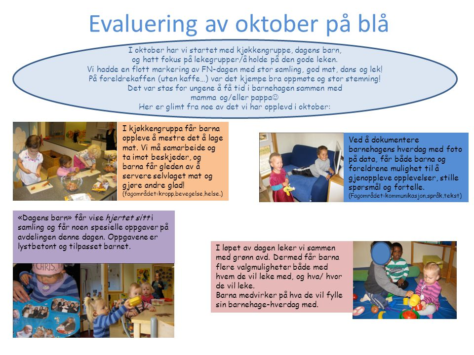 Evaluering av oktober på blå