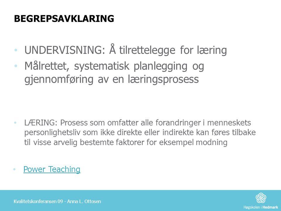 UNDERVISNING: Å tilrettelegge for læring