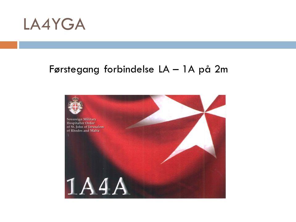 LA4YGA Førstegang forbindelse LA – 1A på 2m
