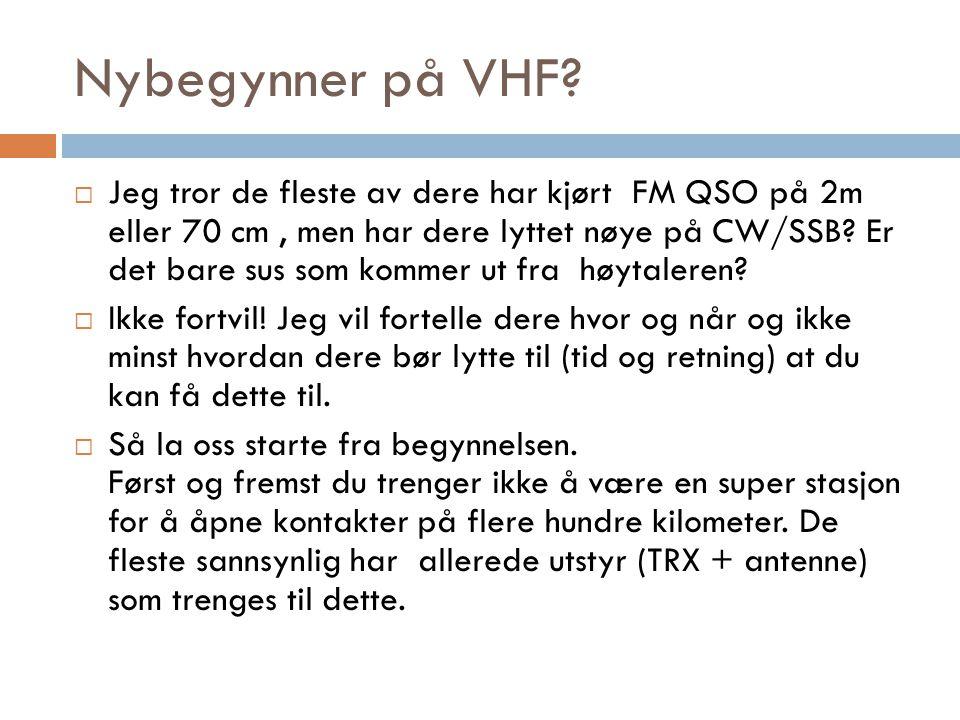 Nybegynner på VHF