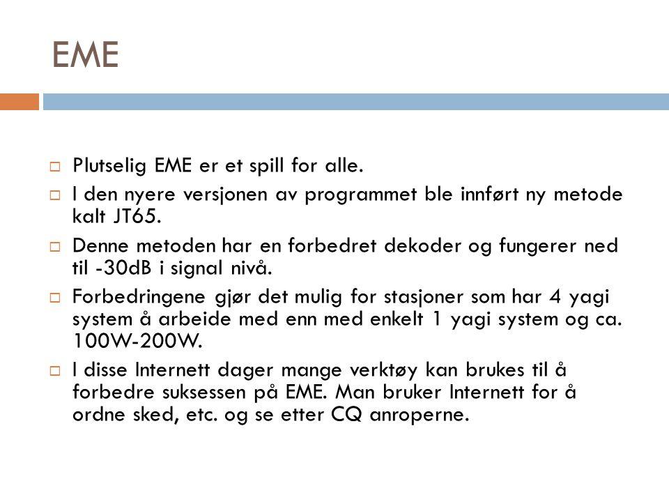 EME Plutselig EME er et spill for alle.