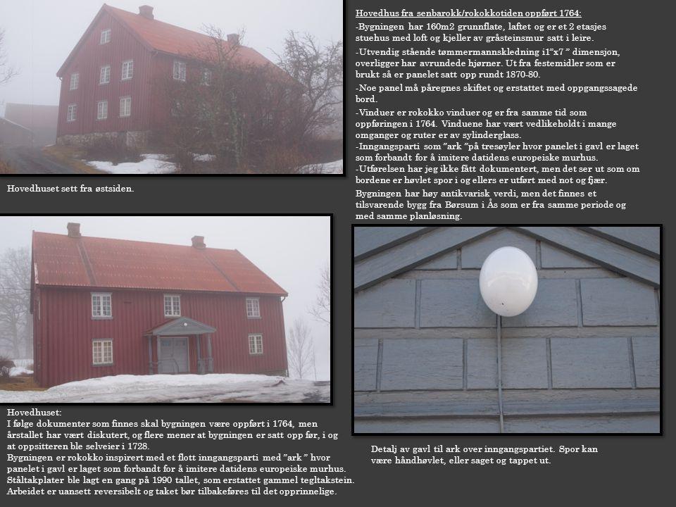 Hovedhus fra senbarokk/rokokkotiden oppført 1764: