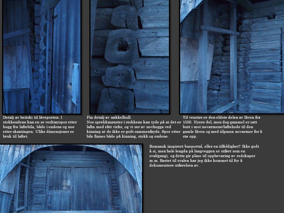 Detalj av beitski til låveporten