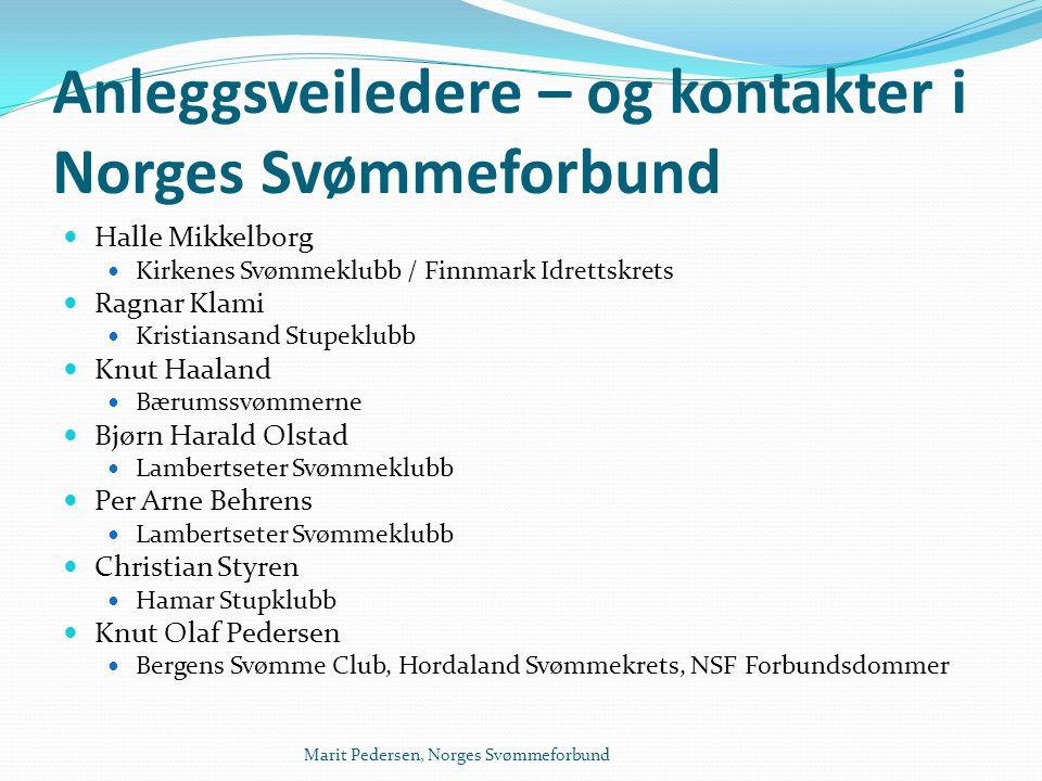 Anleggsveiledere – og kontakter i Norges Svømmeforbund