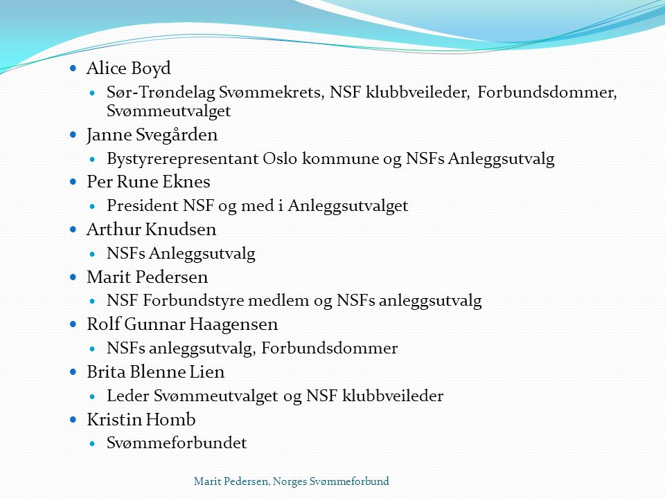Alice Boyd Janne Svegården Per Rune Eknes Arthur Knudsen