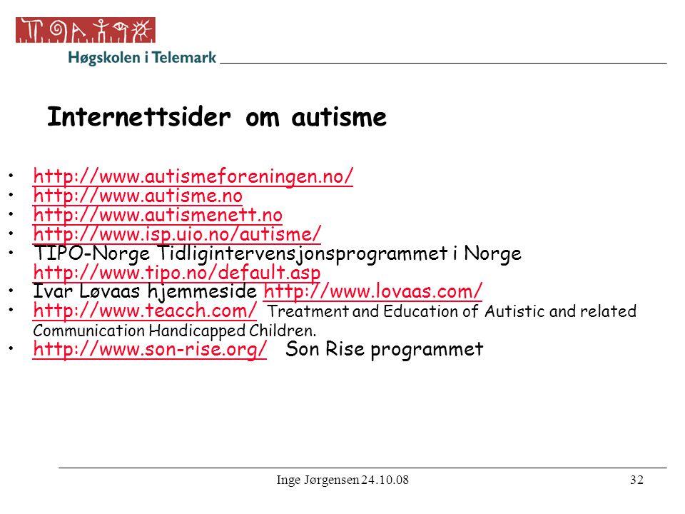 Internettsider om autisme