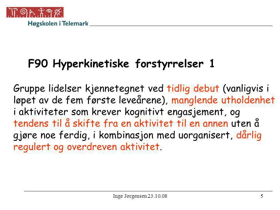 F90 Hyperkinetiske forstyrrelser 1