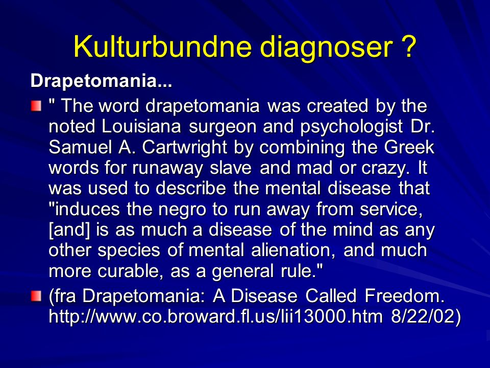 Kulturbundne diagnoser