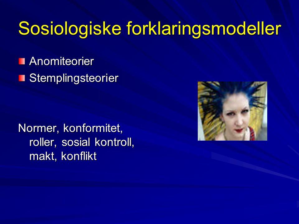 Sosiologiske forklaringsmodeller