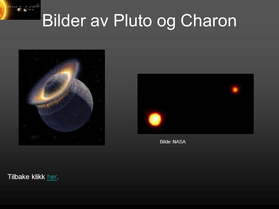 Bilder av Pluto og Charon