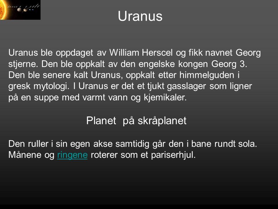 Uranus Planet på skråplanet