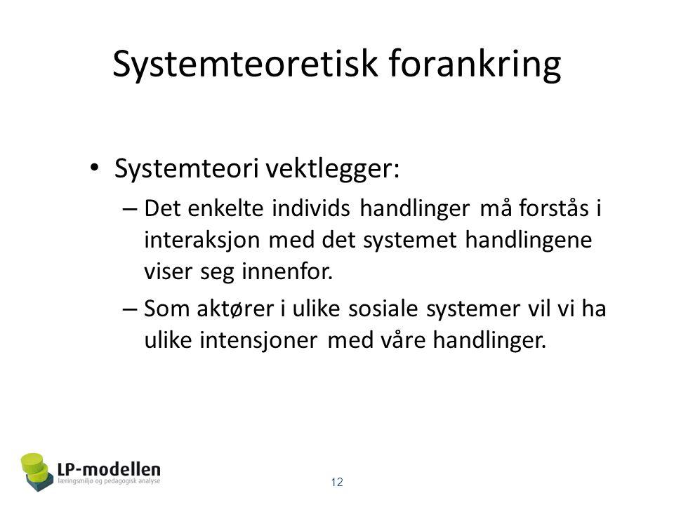 Systemteoretisk forankring
