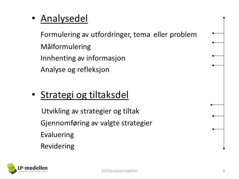 Formulering av utfordringer, tema eller problem