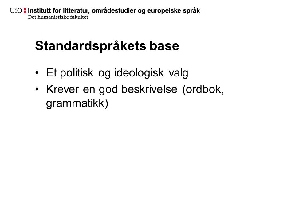 Standardspråkets base