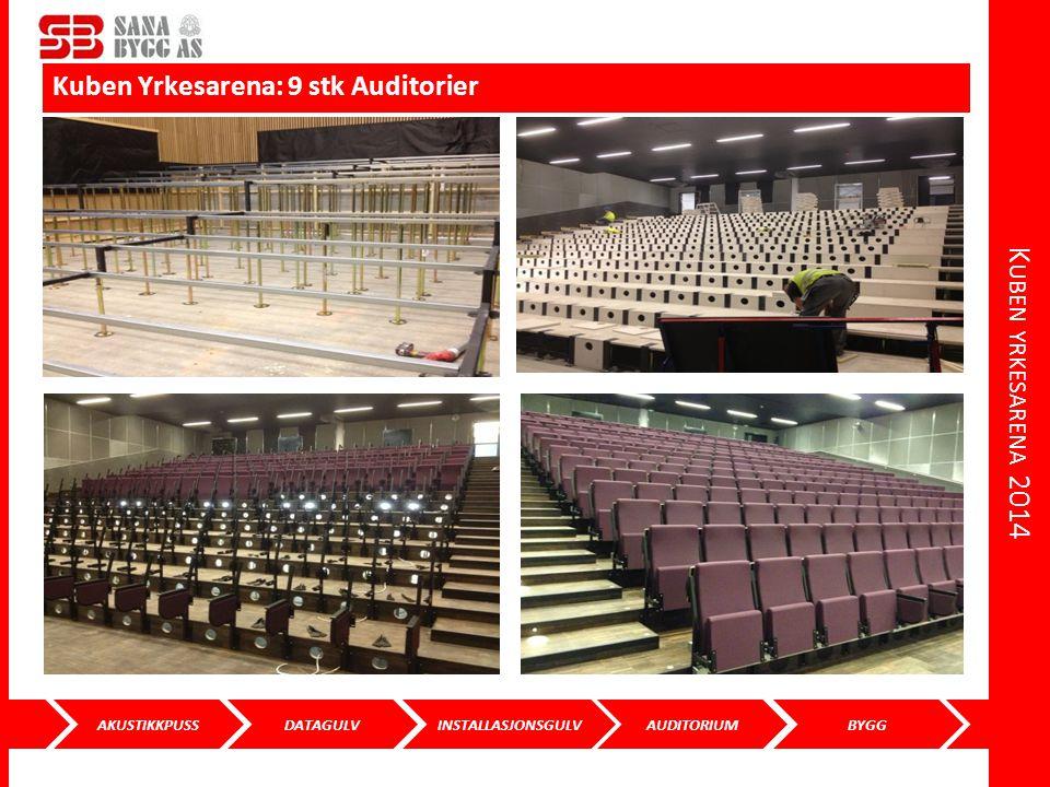 Kuben yrkesarena 2014 Kuben Yrkesarena: 9 stk Auditorier