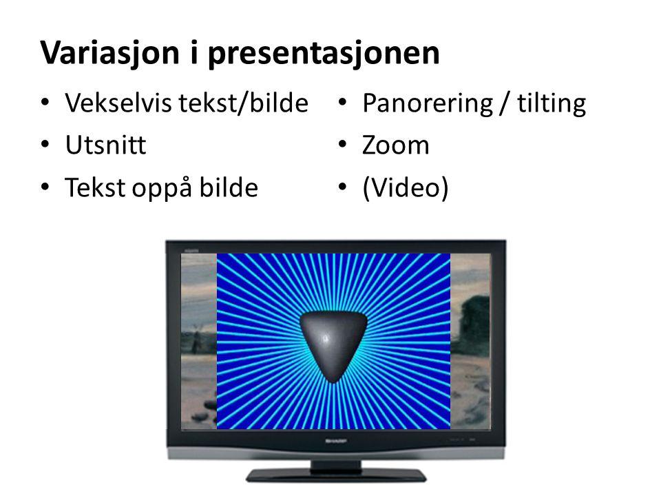 Variasjon i presentasjonen