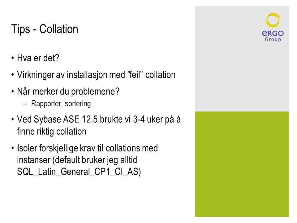 Tips - Collation Hva er det