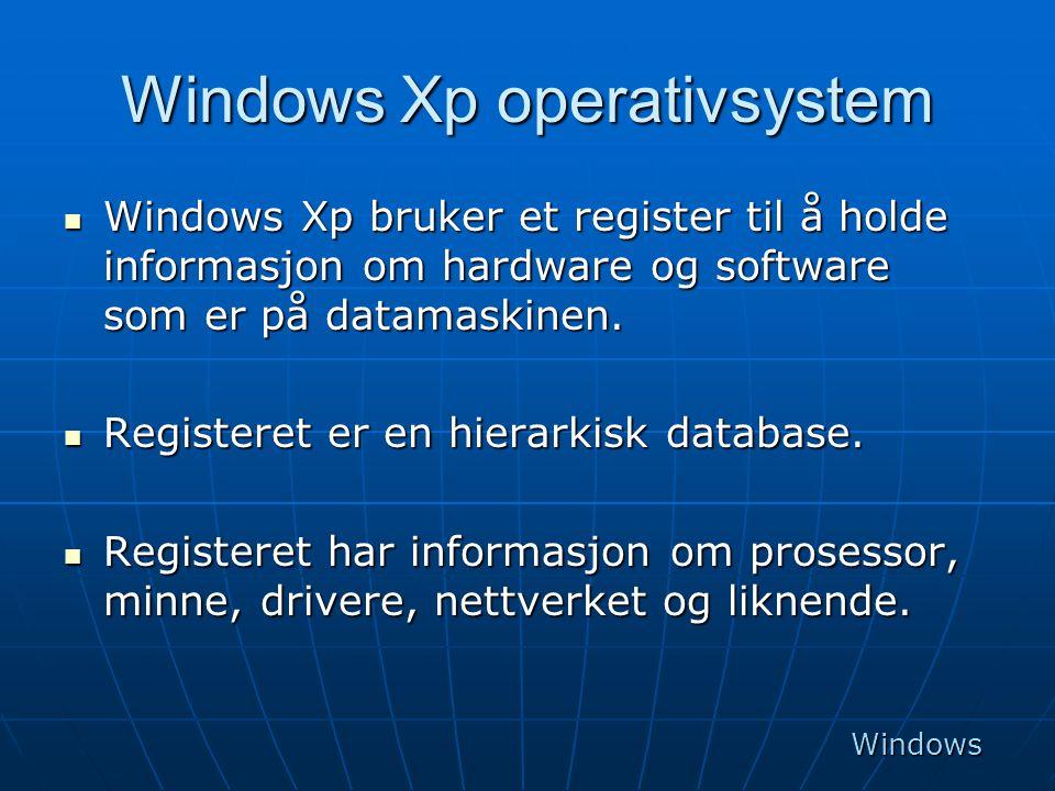 Windows Xp operativsystem
