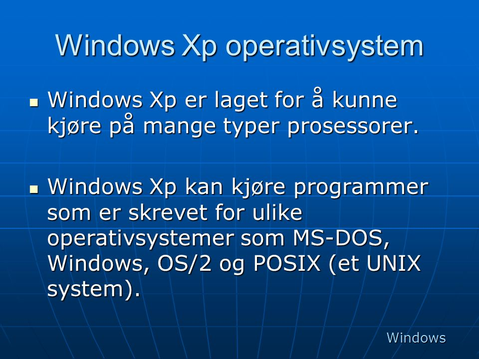 Windows Xp operativsystem