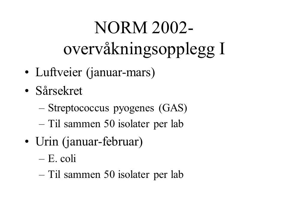 NORM 2002- overvåkningsopplegg I
