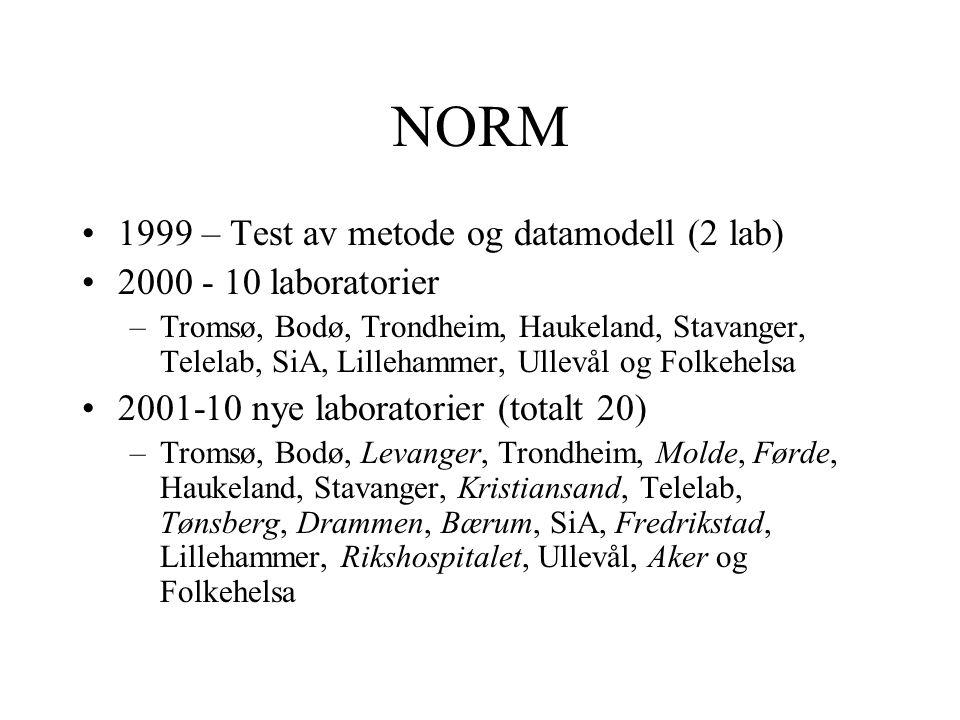NORM 1999 – Test av metode og datamodell (2 lab)