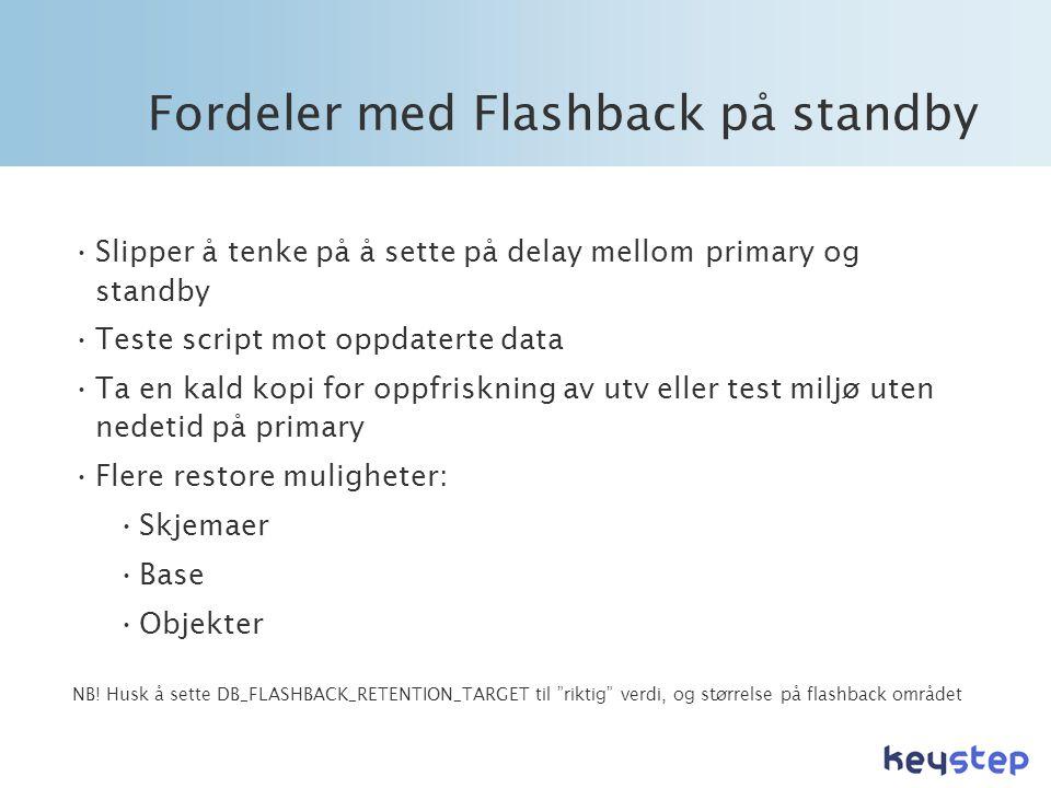 Fordeler med Flashback på standby