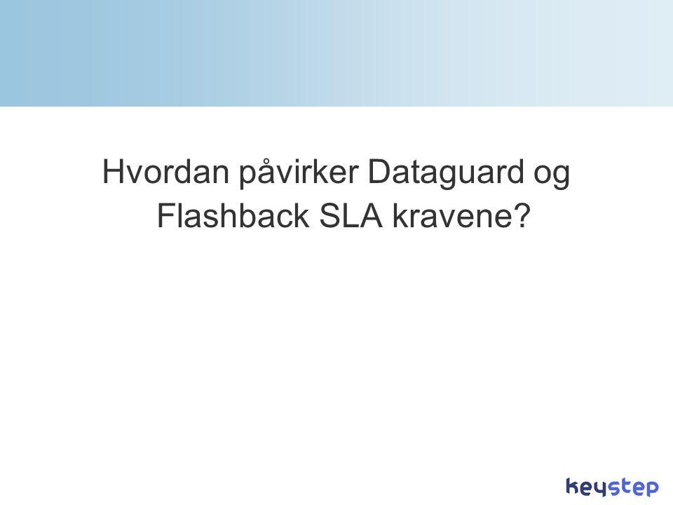 Hvordan påvirker Dataguard og Flashback SLA kravene