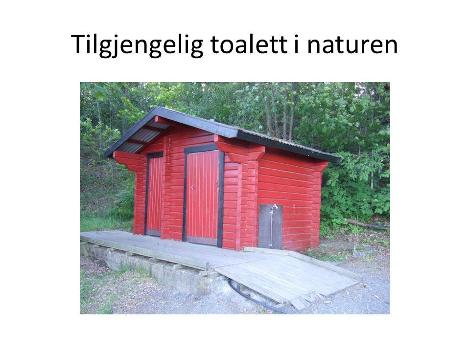 Tilgjengelig toalett i naturen