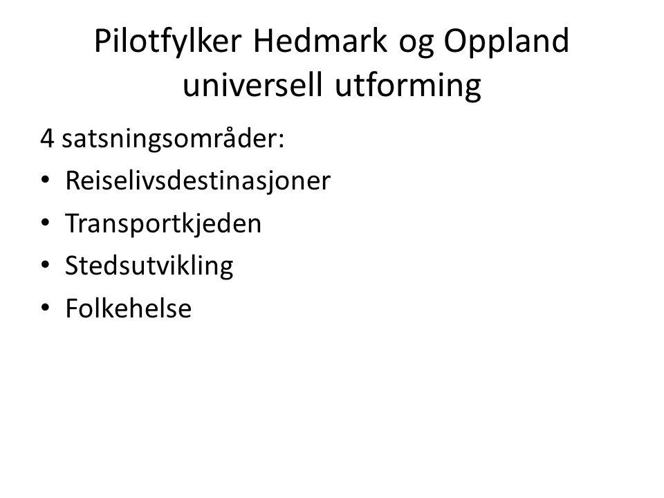 Pilotfylker Hedmark og Oppland universell utforming