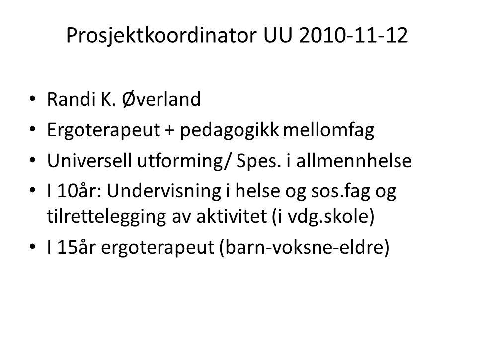Prosjektkoordinator UU 2010-11-12