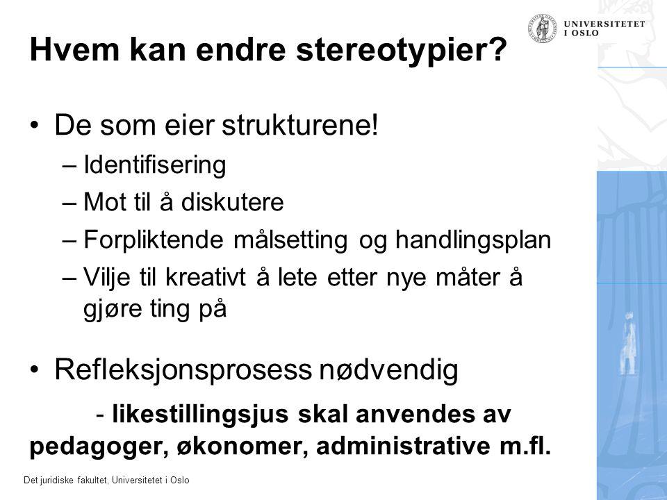 Hvem kan endre stereotypier