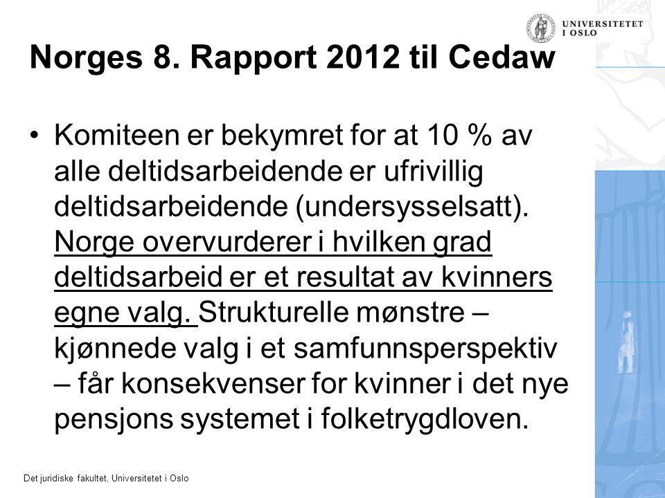 Norges 8. Rapport 2012 til Cedaw