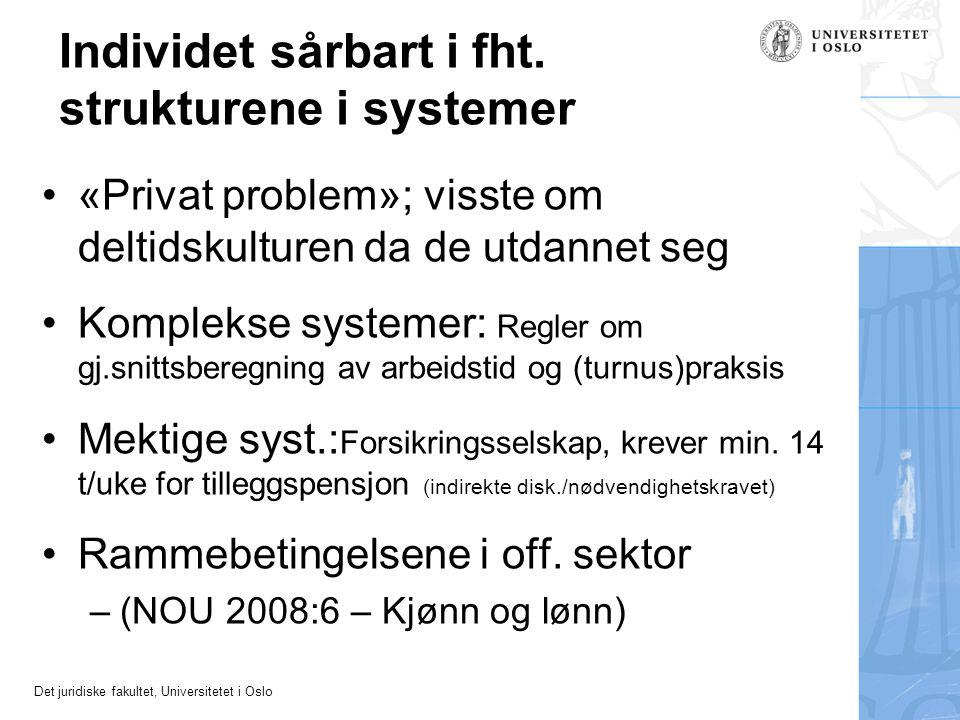 Individet sårbart i fht. strukturene i systemer