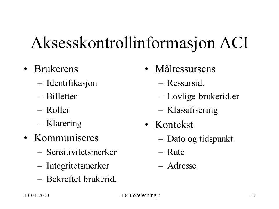 Aksesskontrollinformasjon ACI