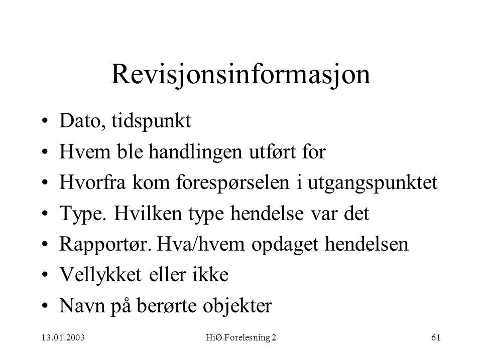 Revisjonsinformasjon