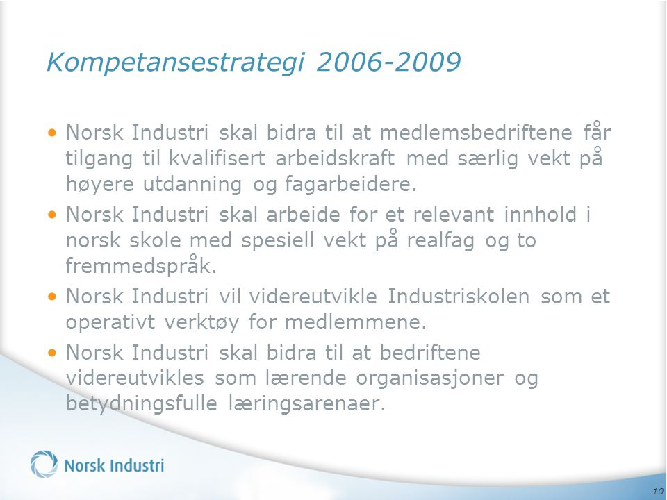 Kompetansestrategi 2006-2009