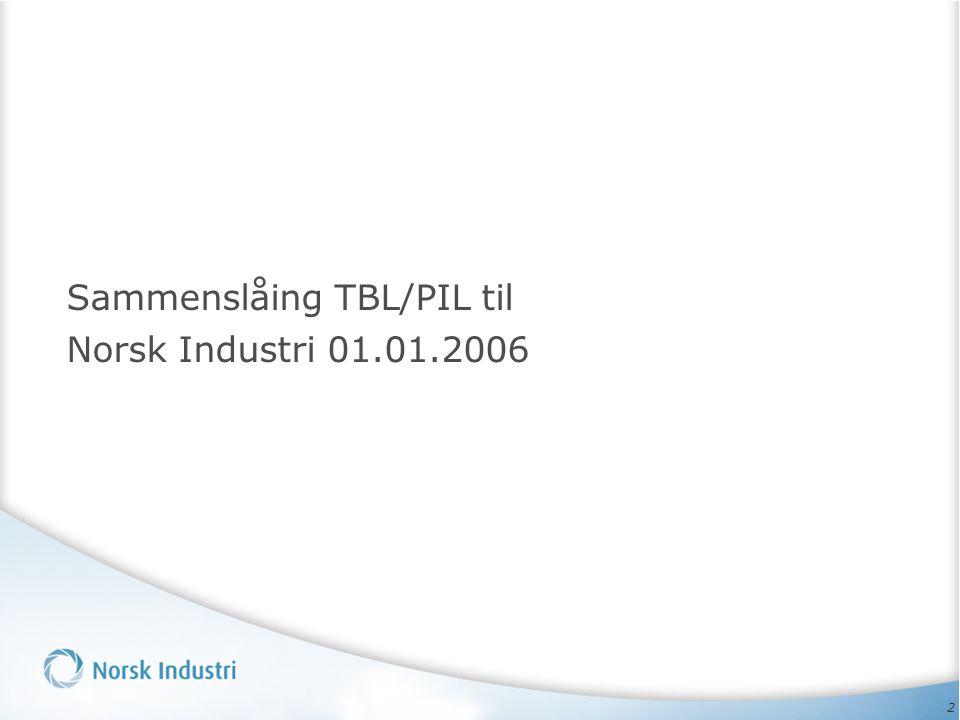 Sammenslåing TBL/PIL til